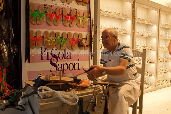 Sandal Maker, Capri, Italy