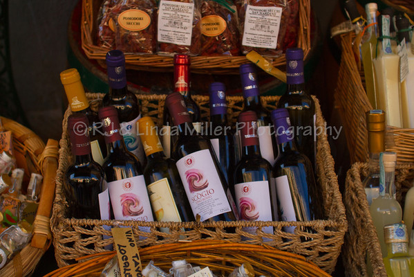 Wine Display, Manarola, Cinque Terre, Italy, Europe,