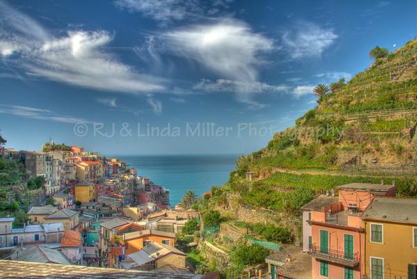 Manarola, Cinque Terre, Italy, Europe,