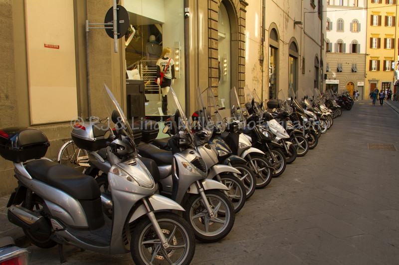 Scooters, Florence, Italy