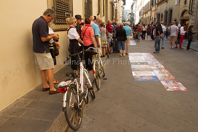 Street Vendors Selling Artwork, Florence, Italy