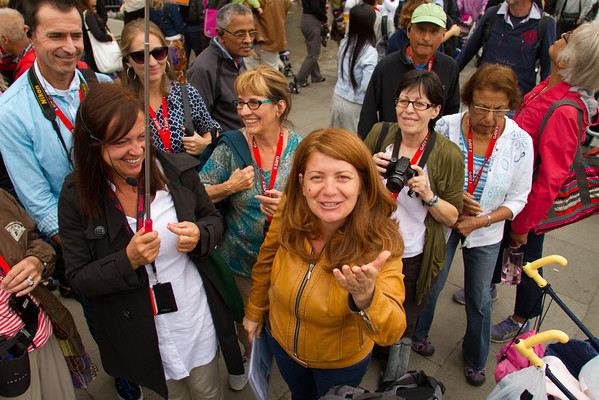 Tour Group, St. Mark's Square, Venice, Venezia, Italy