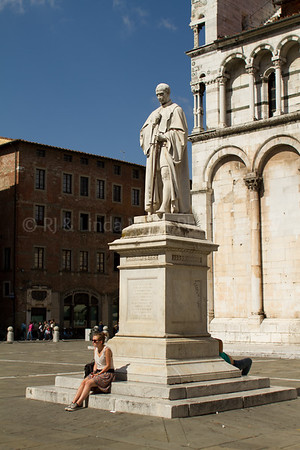Statue of Francesco Burlamacch, Lucca, Italy, Europe