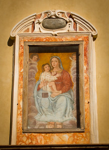 Madonna Painting, Lucca, Italy, Europe
