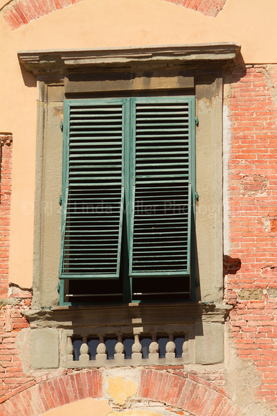 Green Window Shutters, Lucca, Italy, Europe