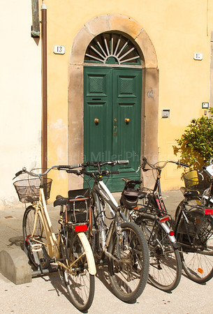 Bicycles, Lucca, Italy, Europe
