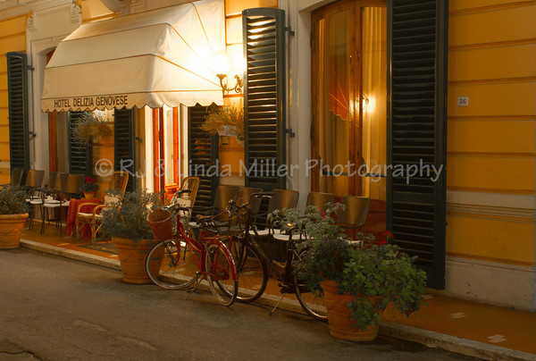 Bicycles in Front of Hotel Delizia Genovese, Montecatini Terme, Italy