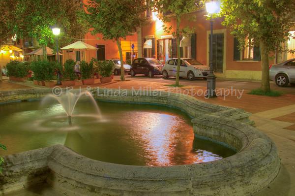 Fountain & Park, Montecatini Terme, Italy