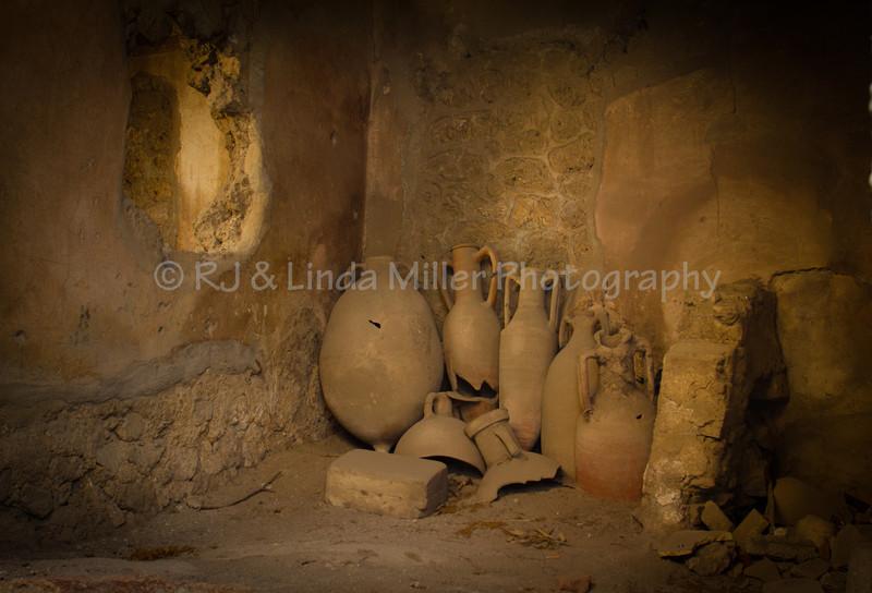 Vases, Pompeii, Italy