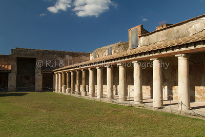 Columns & Courtyard in Pompeii, Italy