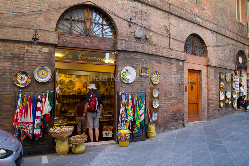 Ceramic Shop in Siena, Italy