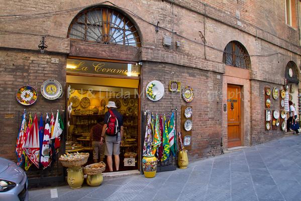 Ceramic Shop in Siena, Italy