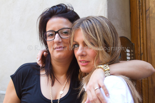 2 Friends, Women of Siena, Italy