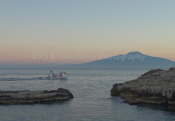 Fishing Boat on Bay of Naples, Sorrento, Italy