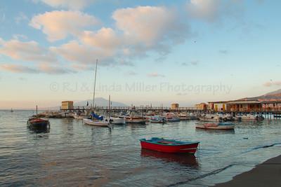 Fishing Dorries, Grande Marina, Bay of Naples, Sorrento, Italy