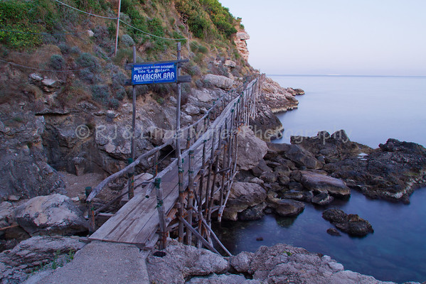 Walkway to American Bar, Sorrento, Italy