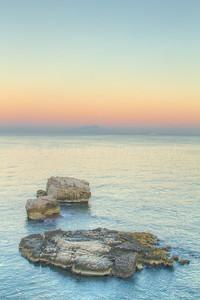 Sunrise on Bay of Naples, Sorrento, Italy