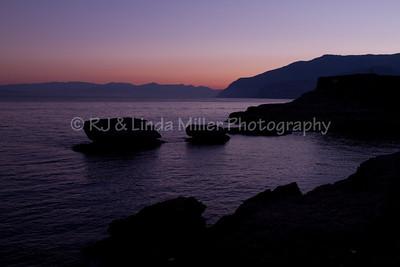 Sunrise Over Shoreline, Sorrento, Italy