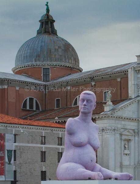 Statue of Alison Lapper Pregnant, San Giorgio Maggiore Island, Venice, Venezia, Italy