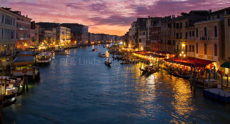 Grand Canal From Rialto Bridge, Venice, Venezia, Italy