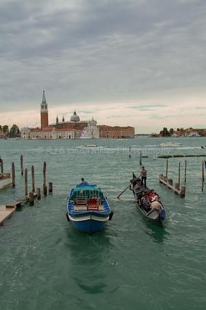 San Giorgio Maggiore Island, Grande Canal, Gondolla, Venice, Venezia, Italy