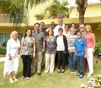 The APH with Zoraida Rosado (far left) and Laurie Kelley (far right) in San Juan, Puerto Rico. If you must do a workshop, yeah, this is the place!