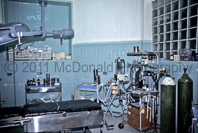 An operating room with a little more equipment, but the same 1940,s feel.