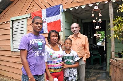 Glenn Pierce with the Jimenez Family
