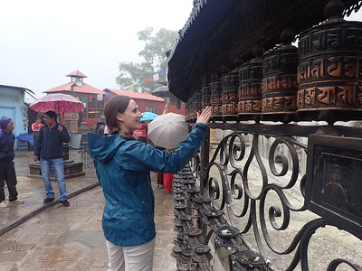 Jess Spins the Prayer Wheels