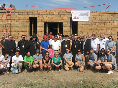 09 07-21 Grand opening of Building on Faith project with blessings from His Holiness Karekin II. The governor of Haytagh Village Samuel Vardanyan is among a number of priests from Armenian Church as well as Global Builder teams and beneficiary families. lm