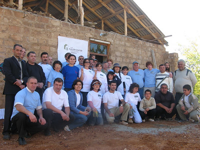 2008  Cynthia Erickson Global Builders team with U.S. Embassy team in Voskevaz Village. ce