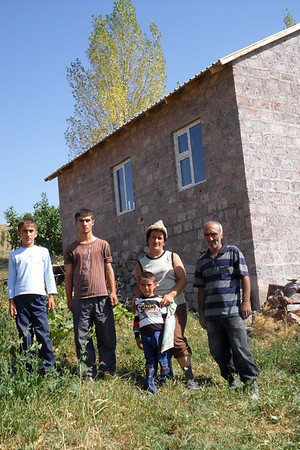 10 09-07  Markosyan family in front of their house.   gohar