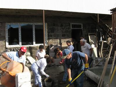08 10-18 Khatchatryan home - Global Builders team plus Fuller Center of Housing Armenia staff. Cynthia Erickson