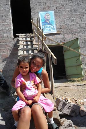 10 09-07 Irind village, homeowner relative with AGBU volunteer.   gohar
