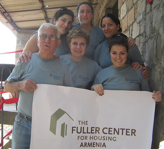 09 07-02 The first Fuller Center Global Builders team consisting of Diaspora Armenians from New Jersey. They worked in Haytagh village of Armavir region to build with the Arsgajyan family. lm