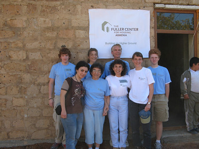 2008  Cynthia Erickson and three generations of her family came to Armenia to participate in building projects with Fuller Center for Housing. Their 3-week trip to Armenia was not just a visit to their homeland, but a mission to directly participate in its development. Cynthia has led a number of teams to Armenia since 2003. This team consisted of 9 people, 6 of them members of her family. Her mother Satenig, Aunt Cathy, Uncle Dan, sister Ann Marie, son Bradley and nephew Orin. ce