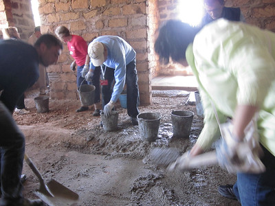 11 05-10  Work inside the house mixing and shovel concrete.  LF