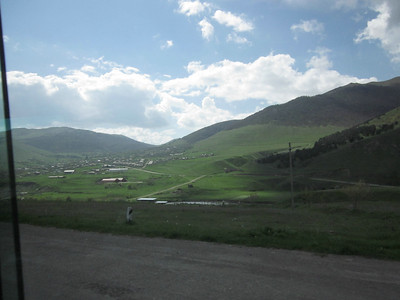 2011 05-11 View from the highway - Mountaineous landscape surrounding Vanadzor.   LF