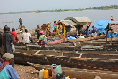Waterfront on the Congo River.