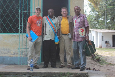 Ryan Iafigliola, Pierre Maloka, David Snell and the Rev. Eliki Bonanga.