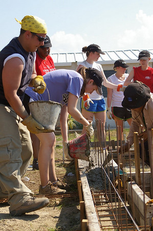 2011 03  North Carolina State University Global Builders work team.      Adam Culley
