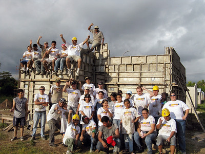 09 10-24 Make a Difference Day. Nearly 100 employees from Crowley Corporation and volunteers from Casa de mi Padre came to pour a house. mw