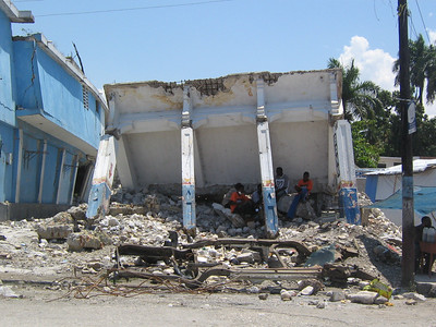 10 04   Earthquake damage in downtown Leogane.  Heather Nozea