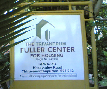09 08 Trivandrum Fuller Center office sign. THL
