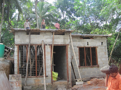 2010 06-14 - Roof is completed for Varghese's house. It will be completed by the end of July and dedicated during the week of MFLB. A Bible will be presented to the family.  THL
