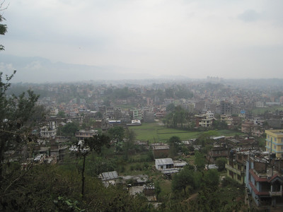 Urban sprawl in Nepal.