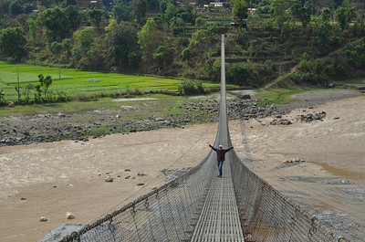 Nepal - They have the most incredible suspension bridges, and lots of them.