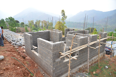 Fuller Center home under construction in Trishuli.