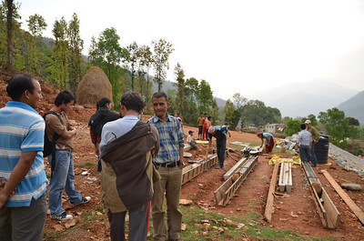 The hilly landscape in Nepal is a major factor in home construction.