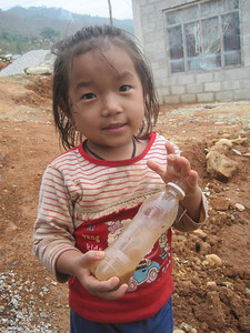A child who will soon have a simple, decent home in Nepal.